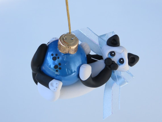 Cat Christmas Ornament Siamese Snowshoe Cat Polymer Clay Figurine