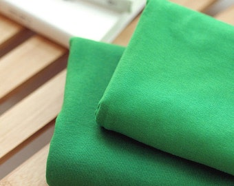 Solid Cotton Jersey or Ribbing Knit Fabric for Binding Necklines, Cuffs, Armholes - Green - By the Yard