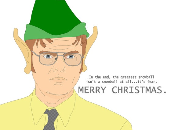 Items similar to Funny Blank Christmas Greeting Card ...