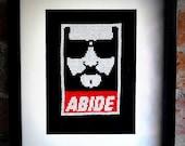 The Dude Abides Cross Stitch Pattern
