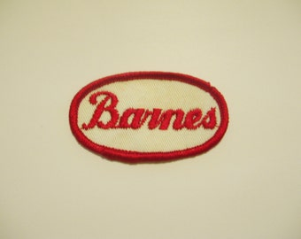 "Vintage Embroidered Name Patch - ""Barnes"""
