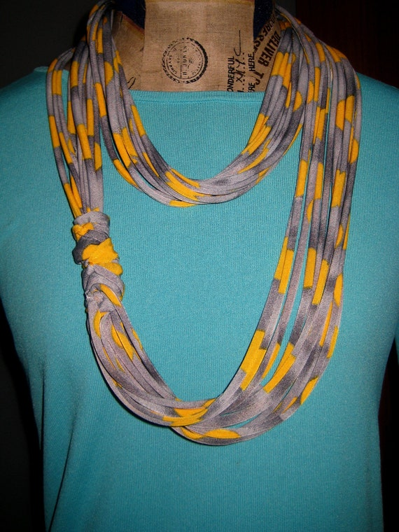 Recycled T-shirt Necklace Scarf RESERVED