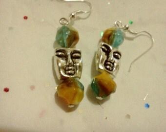 Fun faces earrings