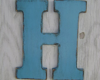 Personalized rustic wooden letter wall hanging decor