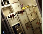 Airplane Galley and Exit on Regional Jet 4, Airline Decor, Aviation, 10x10 Photograph, Aircraft Symbol, Airplane Interior, Beverage Carts
