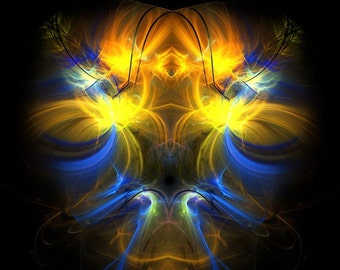 Spa of Life - fractal artwork, digital download. Original home or interior decoration.