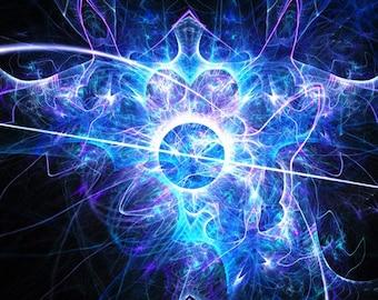 Labyrinth - fractal artwork, digital download Original home or interior decoration.
