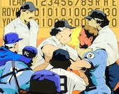 The Pine Tar Incident - Baseball Art Print - Kansas City Royals - George Brett