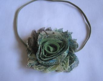 SALE, Olive Green Floral Headband, Baby Headbands, Baby Girl Headbands, Infant Headbands,  Baby Bows, Newborn Headbands, Newborn Bow