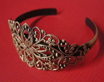 1pc antique bronze filigree bracelet setting-5417