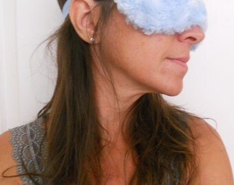 Blue Minky Sleep Mask