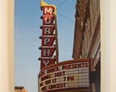 Murphy Theatre Marquee Card, Wilmington Ohio, Blank, All Occasion, Original Photography
