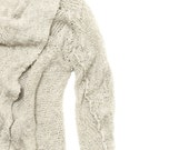 Women knitted cardigan handmade women jacket  knitting natural eco design - Toosha