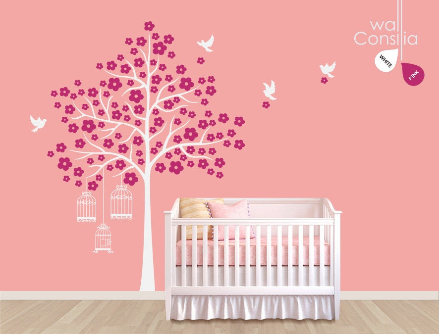 White Tree Decal For Nursery Wall Nursery Wall Decal