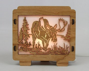 Moose Lamp Night Light