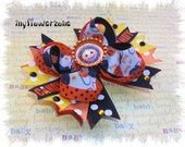 Halloween Hair Bows - Trick or treat Hairbow - Jack O Lantern Hair Bows - Stacked hair Bows - Boutique Hair Bows - Layered Hair Bows