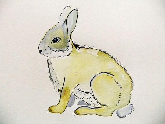 Bunny-Original Watercolor Painting