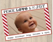 Printable Peace, Love and so much Joy Holiday Card :) Fully Customizable