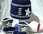 Dallas Cowboy or Cowgirl infant football crochet set