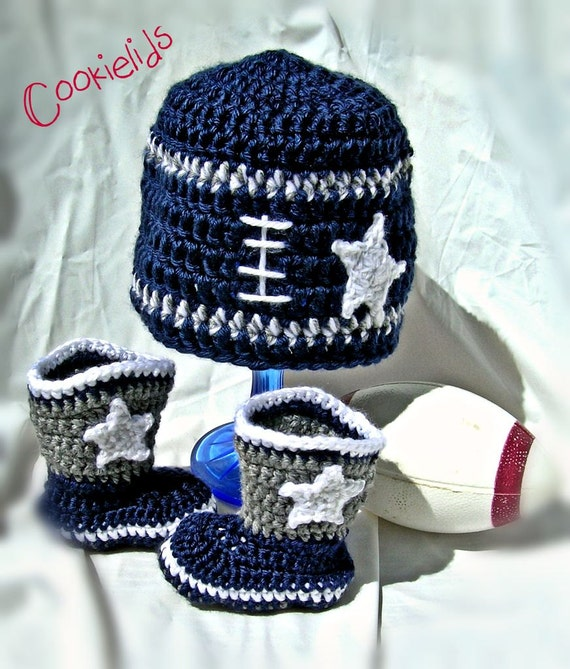Crochet Dallas Cowboy infant football set