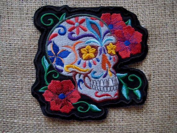 """Patch Embroidered Skull 5"""""""
