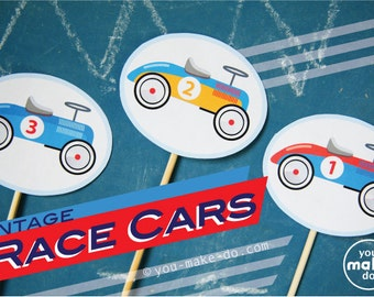 race cars, vintage race car party, race car party, race car birthday, boy birthday, first birthday boy, 1st birthday boy, car party supplies