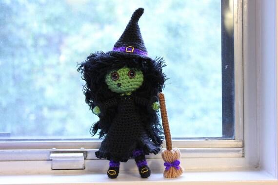 PATTERN Instant Download Zora The Witch Crochet Halloween