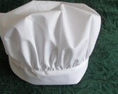 Chef hat white with Velcro so it is adjustable