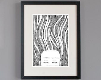 SALE Under water girl glicee print. The very last ones!