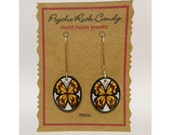 Yellow Butterfly Nikki Hanging Earrings