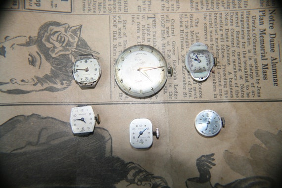Watch Movements and Faces Steampunk or Scrapbook Supplies Lot 4