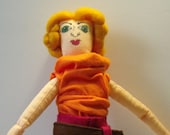 couture doll - Audrey   - OOAK cloth art doll  - painted by hand - fully handsewn original