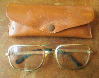 1970 Metal Frame Men's Eye Glasses Optic Wear
