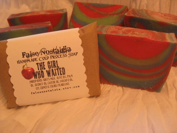 Doctor Who inspired - Handmade Goat's Milk Cold Process Soap - The Girl Who Waited (Amy Pond)