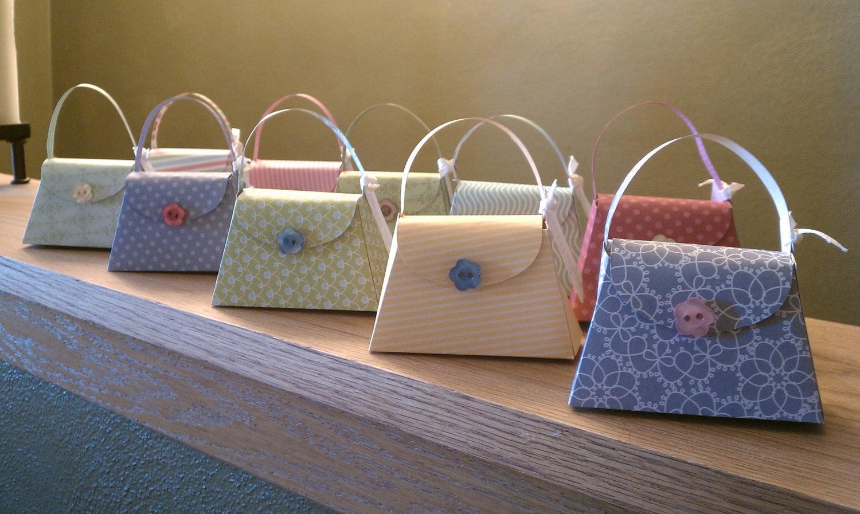 girlie purse party favors set of 15 bridal shower favors