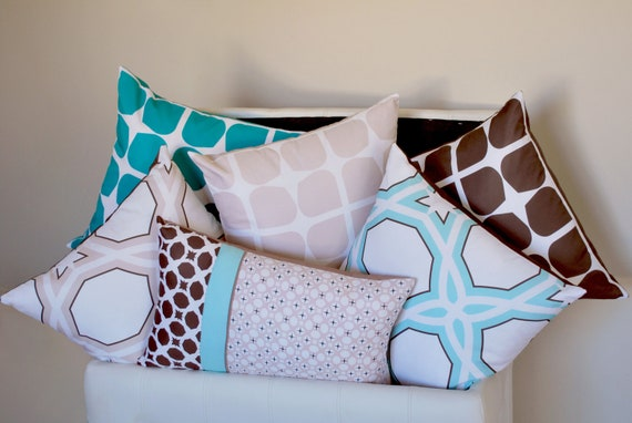 Graphic Soft Furnishings with a dash of colour