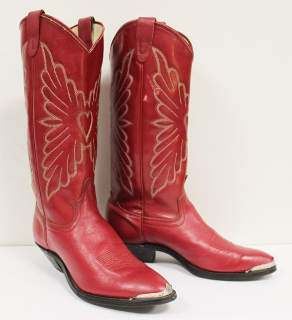 Beautiful Laredo Womenu0026#39;s Madison Leather Western Boots Burnished Red 51055 | EBay