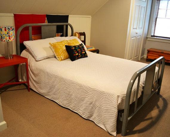 reserved for allison - Vintage Metal Bed - Full Size Bed