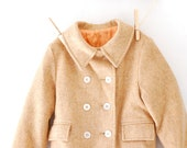 Beautiful Vintage Camel Color Wool Child's Coat
