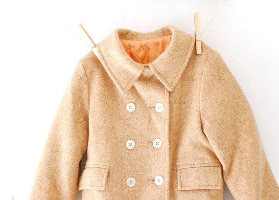 Beautiful Vintage Camel Color Wool Child's Coat