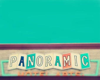 Vintage Sign, retro, nursery decor, new jersey boardwalk, circus print, mint, pastel, teal, motel, nursery wall art, typography, fPOE