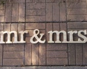 mr&mrs lowercase, Stand aloneWedding decoration, wooden letters, wood sign for sweetheart table, wedding sign