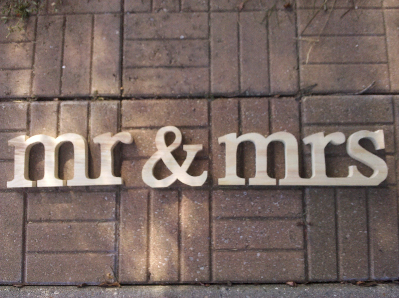 Mr&mrs Lowercase, Stand AloneWedding Decoration, Wooden