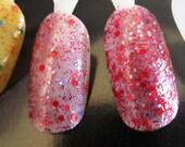 Berry Street Park- Glitter Nail Polish in a Purple Jelly Base