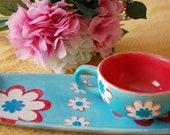 CLEARANCE Sale - Flower Luncheon Set