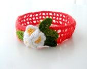 Childrens Headbands Baby Crochet Headband, Newborn, Crochet Headband, Baby Girl Crochet Headband, Infant Crochet Headband