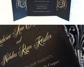 Custom Designed Elegant Wedding Invitation Set with Matching Thank You Card