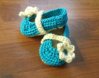 Ballerina Flats - Crochet Baby Booties