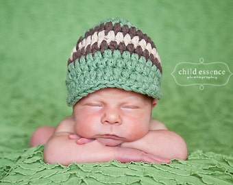 Newborn Baby Boy Hat Newborn Boy Hat Olive Green Baby Hat Brown Khaki Baby Boy Clothes Newborn Photography Prop Baby Boy Cap Baby Boy Gift