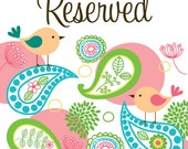 Reserved Listing for Sarah W.